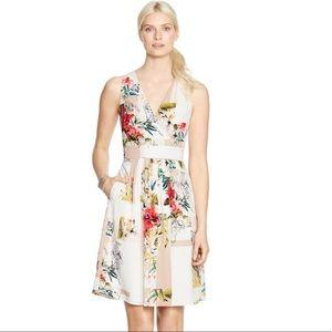 White House Black Market Watercolor Floral Dress